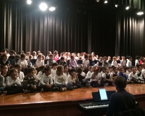 Students at SLE During Urban Voices Concert