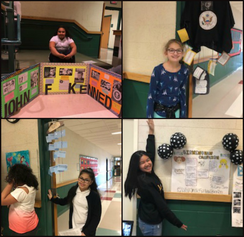 Wetherbee Grade 5 Students With Their Civil Rights Projects