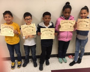 Kindness Award Winners Grade 1