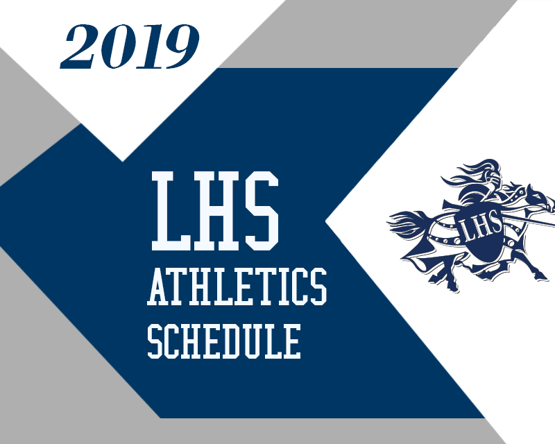 Lancer logo reading athletic schedule