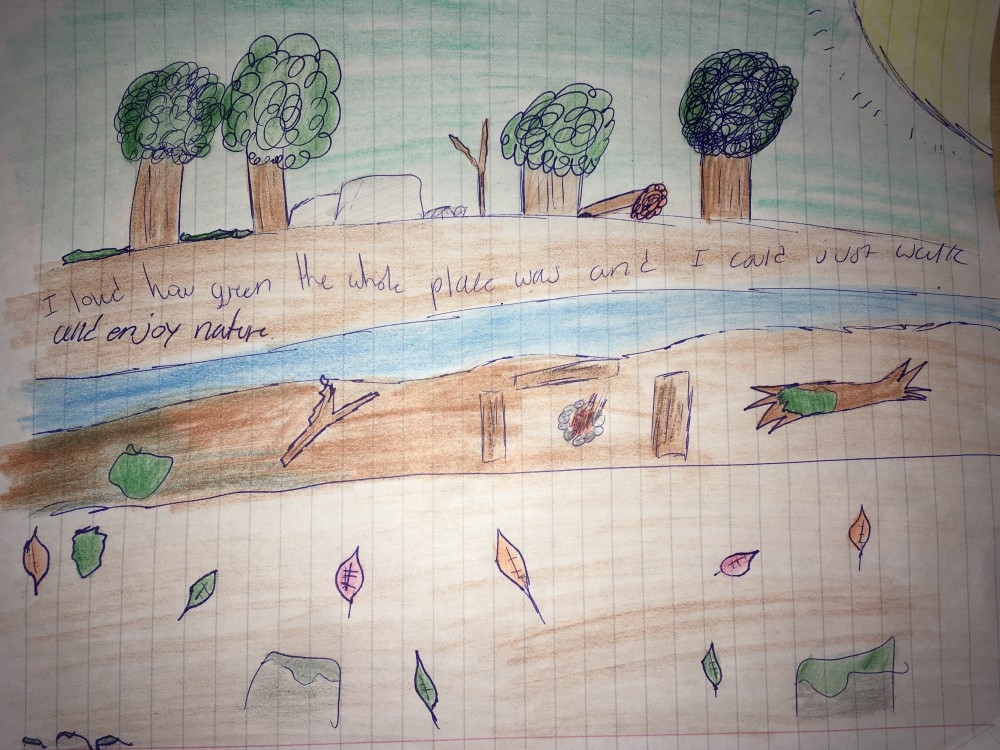 A student's artistic and written reflection of her time at Quarrybrook.
