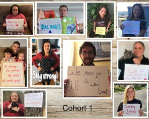 collage of teacher photos holdings signs