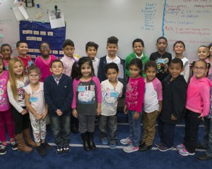Class wearing pink for kindness day