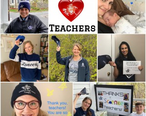 images of staff with message for teachers