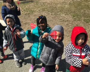 "PreK's ""I Choose Kindness"" hearts"