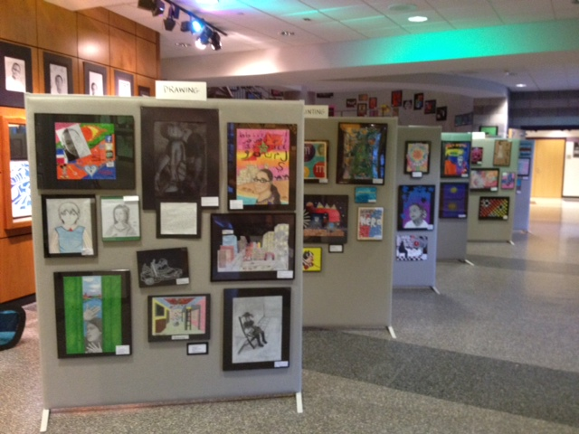 Display of students artwork