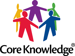 "5 Multicolored people holding hands in circle with ""core knowledge"" written below"