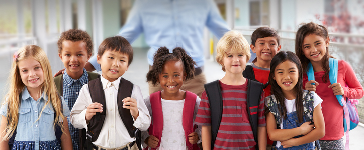 group of children of multiple nationalities smiling